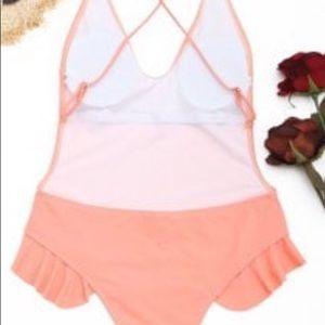 Zaful Bring it On Orange/Pinkish Swimsuit